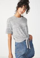 Cotton On - Charlise tie summer front top - grey