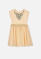 Cotton On - Iris tulle dress - peach