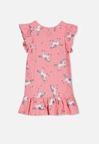 Cotton On - Ella short sleeve dress - pink
