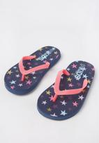 Cotton On - Printed flip flop - navy