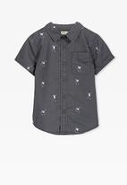 Cotton On - Jackson short sleeve shirt - grey