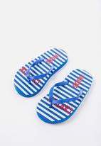 Cotton On - Printed flip flop -blue