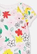 Cotton On - Mini short sleeve bubbysuit - multi