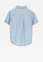 Cotton On - Jackson short sleeve shirt - blue