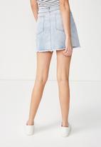 Cotton On - The re-made summer mini denim skirt - blue