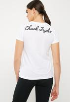 Converse - Chuck patch crew tee - white