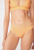 Cotton On - High waist super soft bikini brief - peach