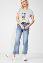 Cotton On - Tbar fox summer graphic t-shirt - grey