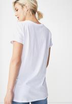 Cotton On - Tbar fox summer  graphic t-shirt - white