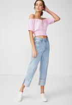 Cotton On - Vicki tie summer front top - pink