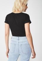 Cotton On - Baby tee summer bodysuit - black