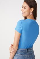 Cotton On - Baby tee summer bodysuit - blue