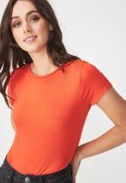 Cotton On - Baby tee summer bodysuit - orange