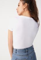 Cotton On - Baby tee summer bodysuit - white