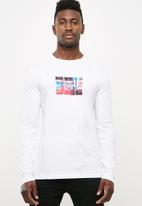 basicthread - Printed crew neck tee - white