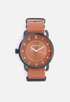 Superbalist - Reign leather watch - brown