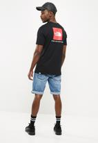 The North Face - Red box tee - black