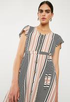 Superbalist - Fit and flare button through dress - multi