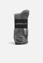 Superbalist - Plain 3 pack socks - grey