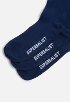 Superbalist - Plain 3 pack socks - navy