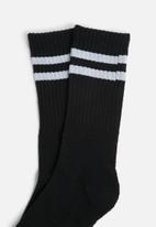Superbalist - Retro 3 pack sport socks - black