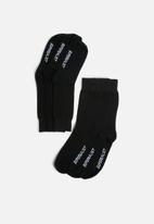 Superbalist - Plain 3 pack socks - black