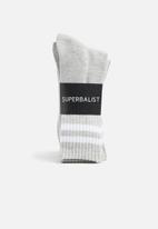 Superbalist - Retro 3 pack sport socks - grey
