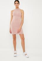 Superbalist - Poloneck dress - pink