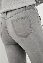 Superbalist - Grey studded jeans - grey