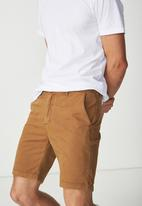 Cotton On - Washed chino short - brown