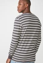 Cotton On - Tbar long sleeve  tee - grey & white