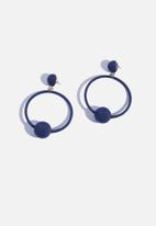Superbalist - Ziyanda hoop earrings-navy