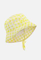 Cotton On - Baby bucket hat - yellow & white