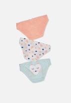 Cotton On - Girls character undies - multi