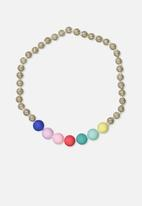Cotton On - Mixed beaded necklace - multi
