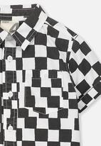 Cotton On - Jackson short sleeve shirt - black & white