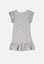 Cotton On - Ella short sleeve dress - grey