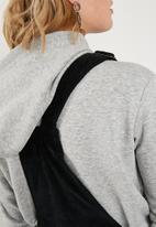 Superbalist - Button through corduroy pinafore dress - black
