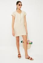 Superbalist - Sheath dress with zip detail - cream