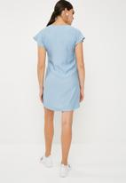 Superbalist - Sheath dress with zip detail -blue