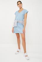 Superbalist - Sheath dress with zip detail -blue