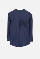 Cotton On - Fraser long sleeve rash vest - navy