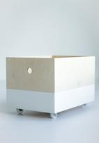 Simply Child - Kids toy box - white dip