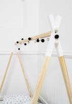Simply Child - Kids single teepee bed frame - white dip
