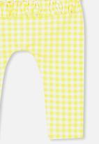 Cotton On - Ria ruffle legging - yellow & white
