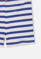 Cotton On - Billy boyleg swim trunk - blue & white