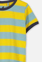 Cotton On - Max short sleeve tee - yellow & blue