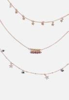 Superbalist - Multi stone layered necklace - gold