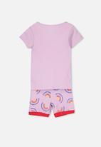 Cotton On - Chloe short sleeve girls pyjama set - purple
