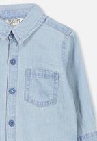 Cotton On - Zac long sleeve shirt - blue